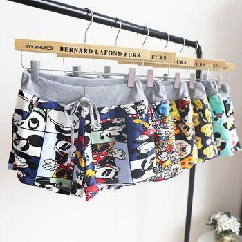 Frete grátis Blusas 2015 venda quente Sumemr mulheres moda estilo dos desenhos animados de estiramento Casual cintura elástica Hot Shorts