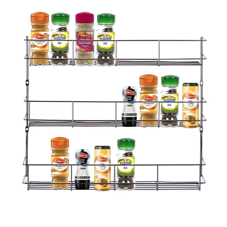 étagère à épices Et Herbes 3 Niveaux De Rangement Pour Porte