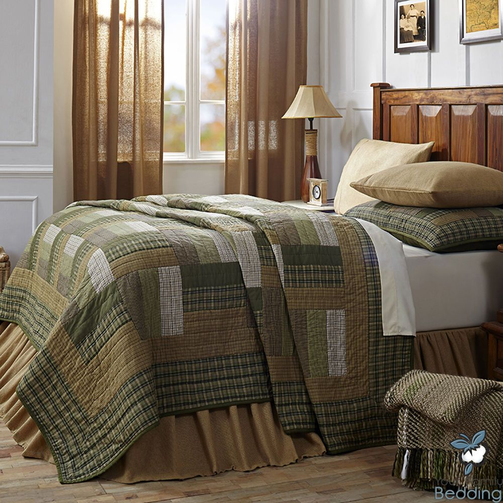 Details about BEAUTIFUL COZY PLAID BROWN GREY BLACK RUSTIC