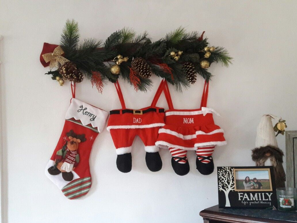 hanging stockings without mantle or fireplace branch was 16 from better homes and gardens at - Walmart Christmas Socks