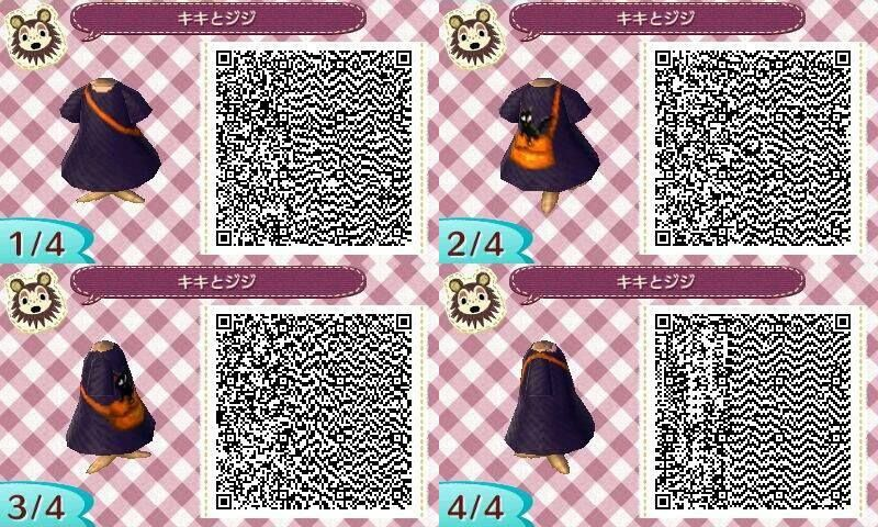 Kiki Delivery Service Dress Animal Crossing New Leaf Qr Code Acnl