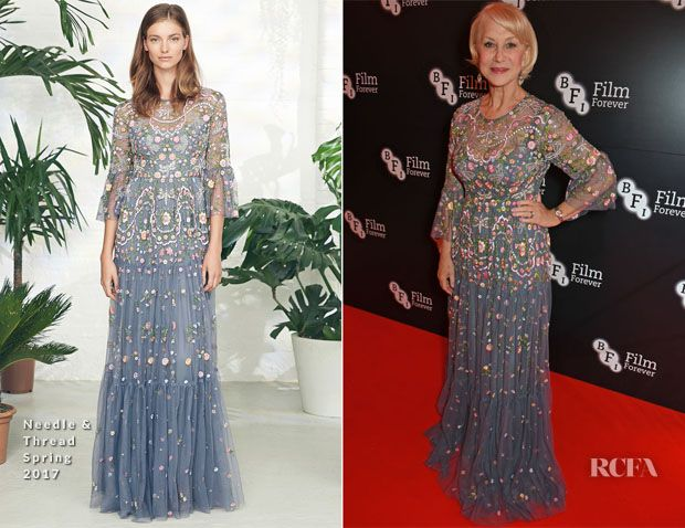 Helen Mirren In Needle & Thread – BFI Chairman's Dinner