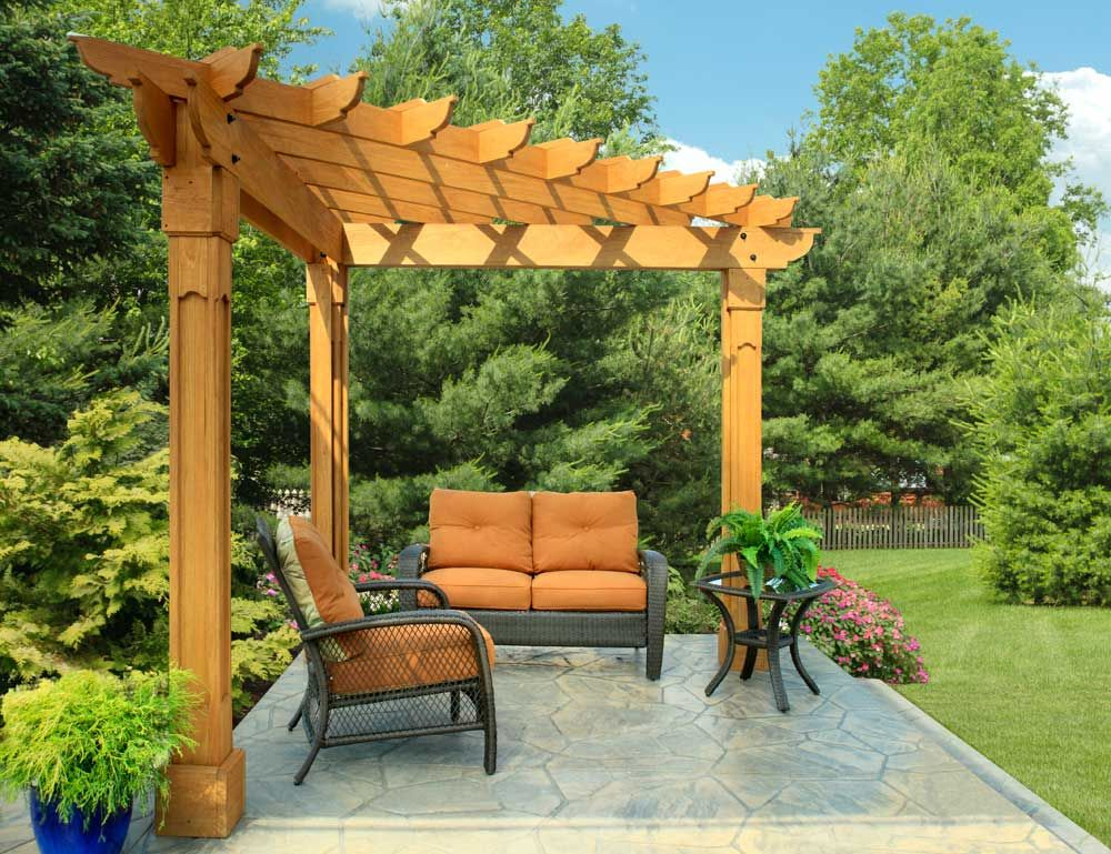 pergola wooden cedar outdoor furniture everything for living in style