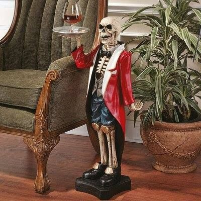 Bones, the Skeleton Butler Sculpture -   tmblr/ZPNP8u1MteqCC - halloween statues