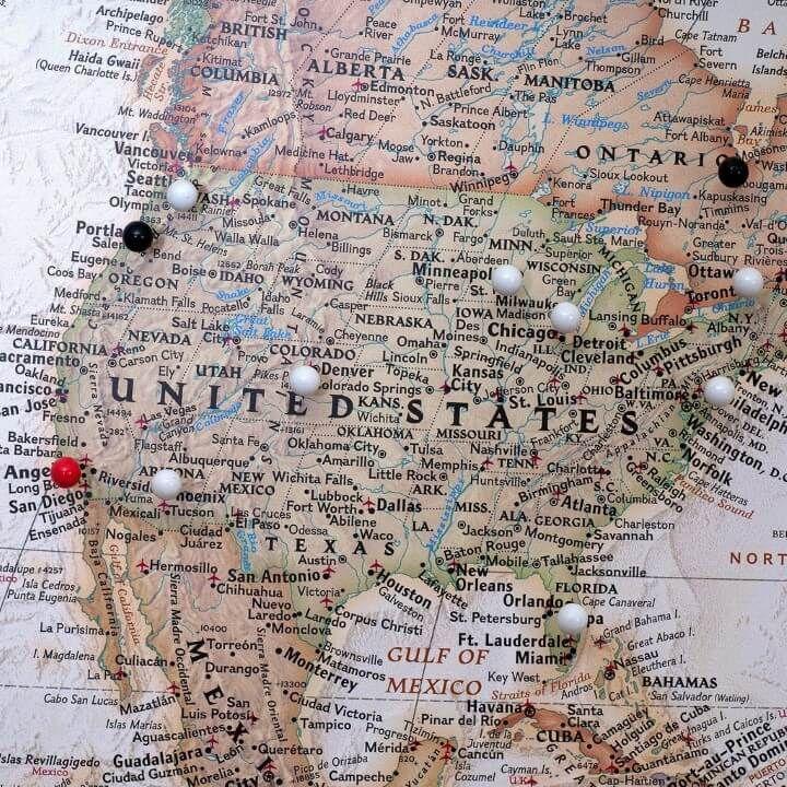 Executive world push pin travel map mapping the world 2 executive world push pin travel map gumiabroncs Choice Image