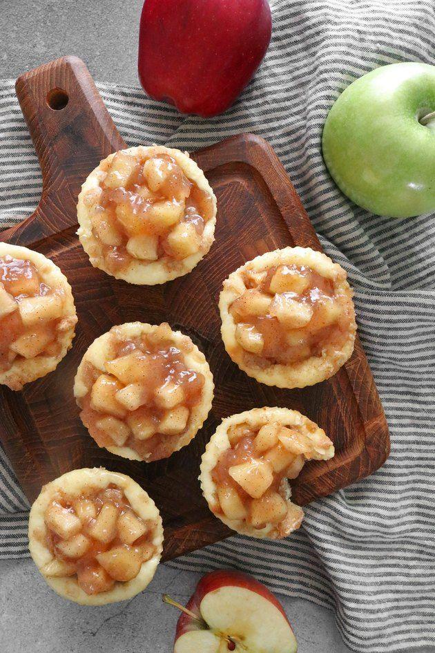 Mini Caramel Apple Cheesecakes Recipe | eHow.com #caramelapplecheesecake Mini Caramel Apple Cheesecakes Recipe | eHow #caramelapplecheesecake