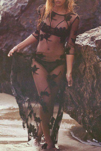 efb3a984 Outfits para la playa Vestido transparente   Trajes de Baño   Moda ...
