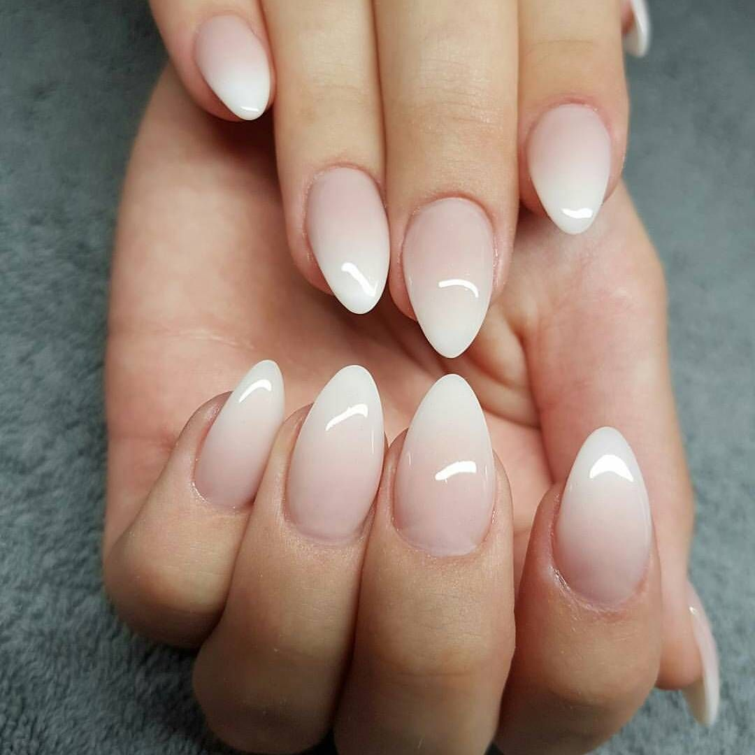 simple acrylic almond nails