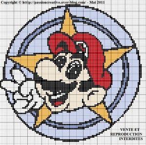 Grille gratuite point de croix : Mario | Point de croix pokemon, Point de croix et Mario