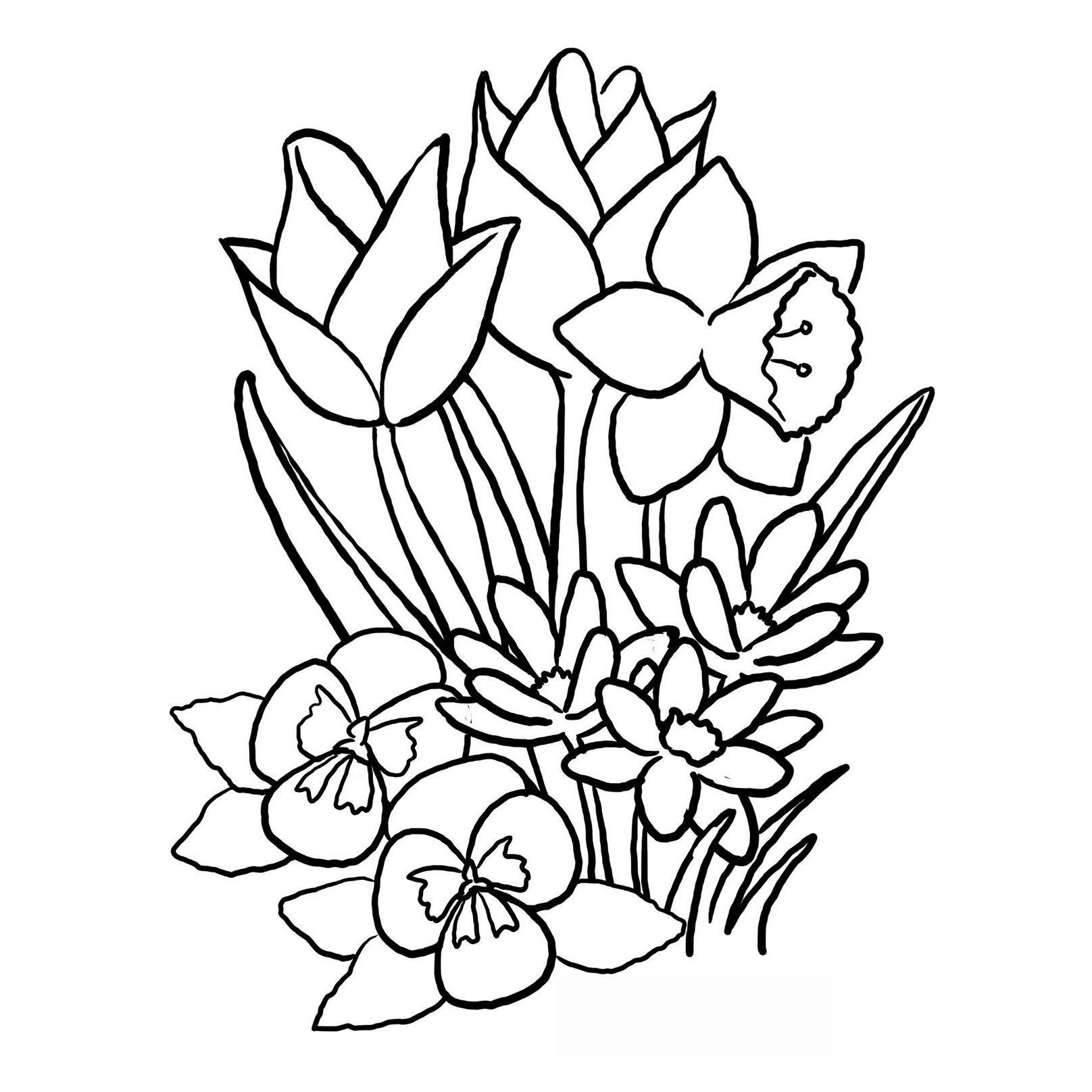 dibujo de flor grande para colorear | Tareas Vicente | Dibujos de