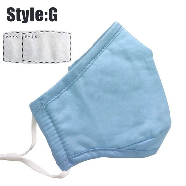 Face Cover Scarf Pm2.5 Activated Solid Washable And
