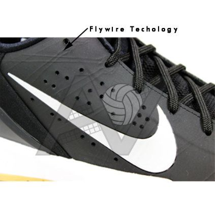 the latest 3957c 6e8ef Nike Men s Air Zoom HyperAttack Volleyball Shoe - Black White Nike Air Zoom  Hyperattack Volleyball Shoes feature Nike Flywire technology and a tough  outer ...
