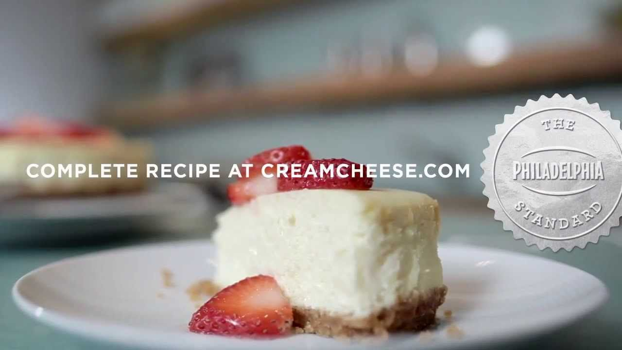 Philadelphia Classic Cheesecake Youtube Cheesecake Classic Cheesecake Sour Cream Cheesecake