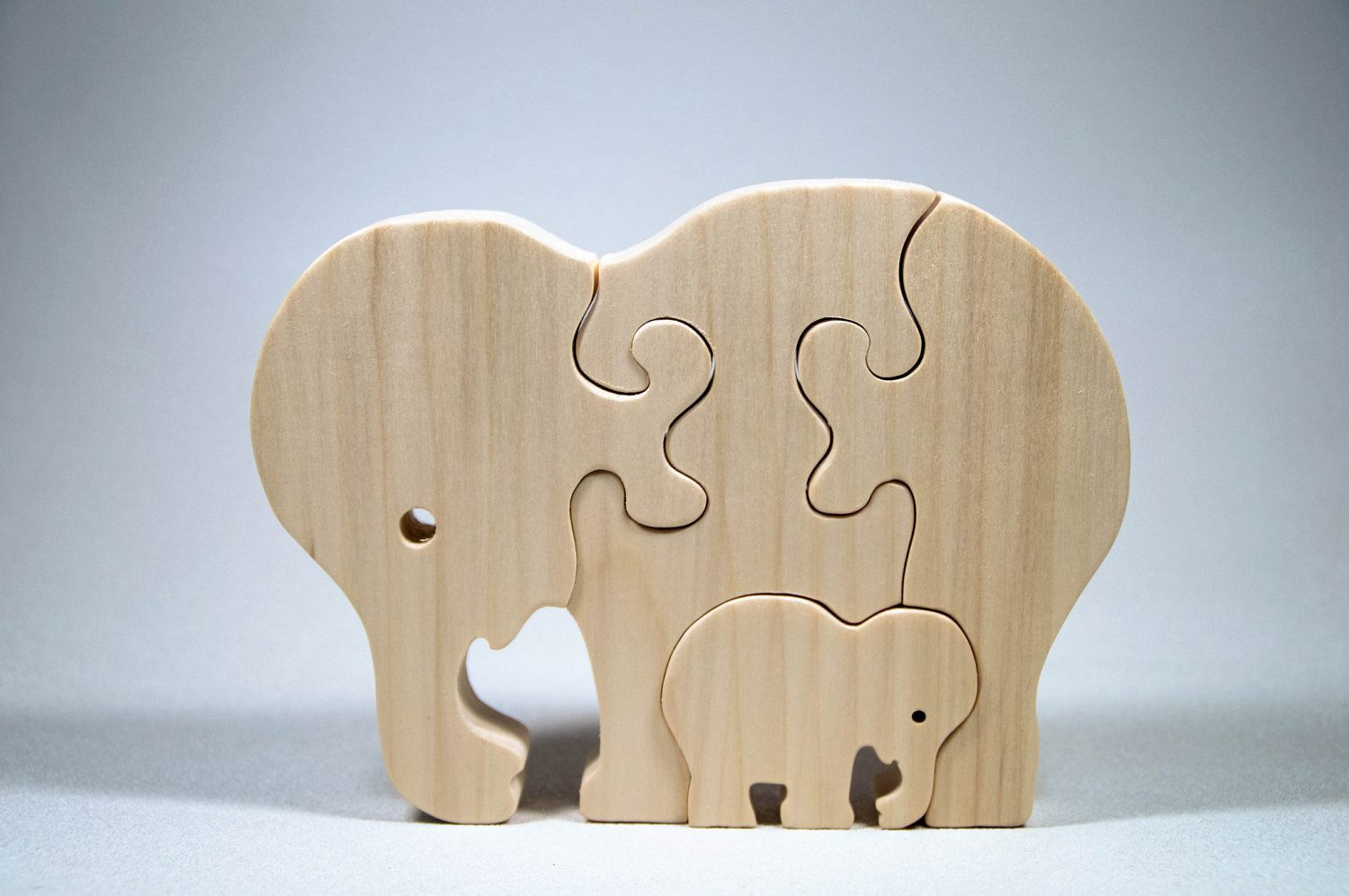 Wooden Elephant Puzzle Personalized Heirloom Gift For Boys
