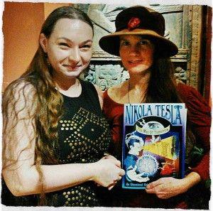 author rebekah gamble with nikola tesla coloring book creator niffer desmond - Coloring Book Creator