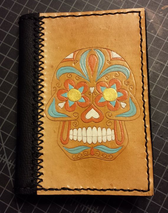 Sugar Skull Journal  Ready to Ship by BoondockStudios on Etsy, $75.00