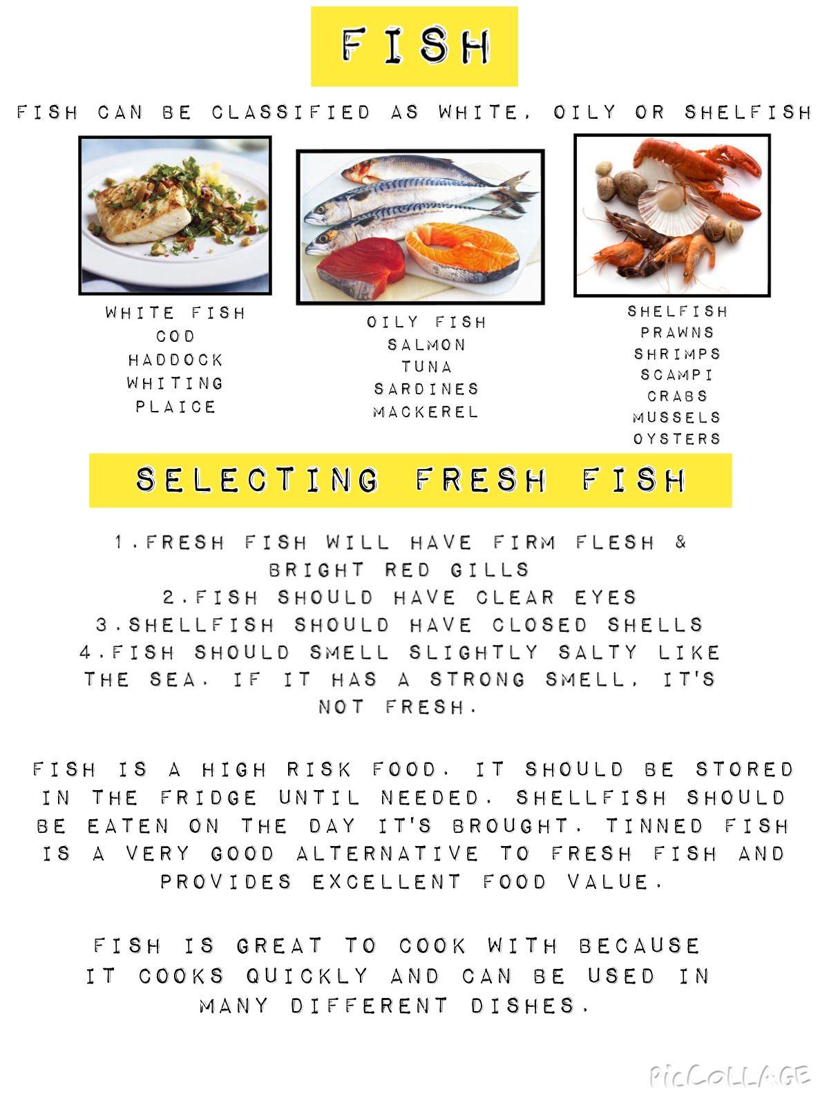 Fish | Food Preparation & Culinary Skills | classroom ideas in 2019 ...