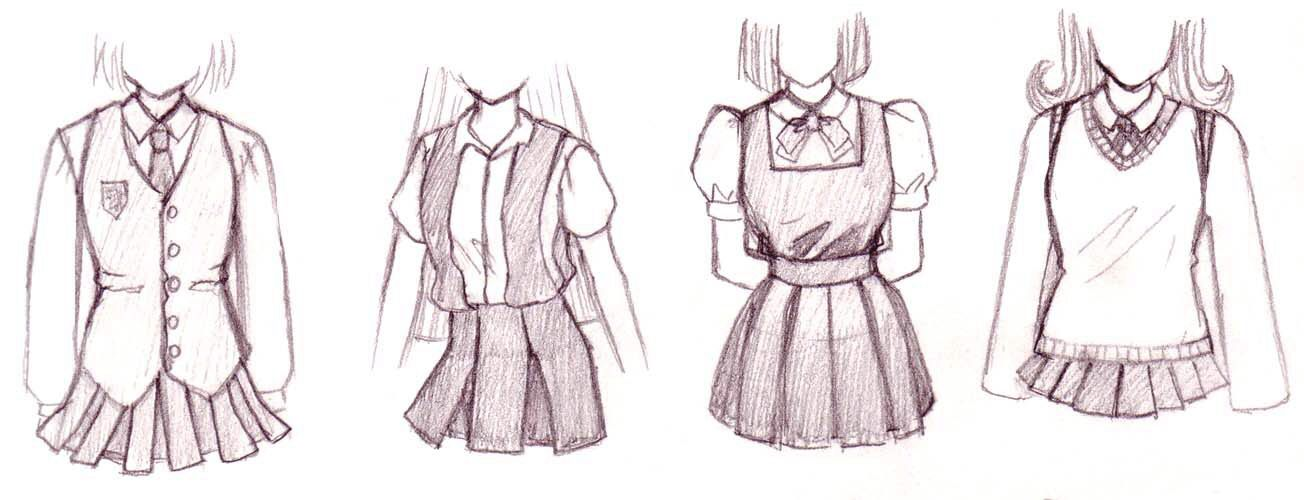 Cute Animie Outfit Drawing Anime Clothes Anime Drawings