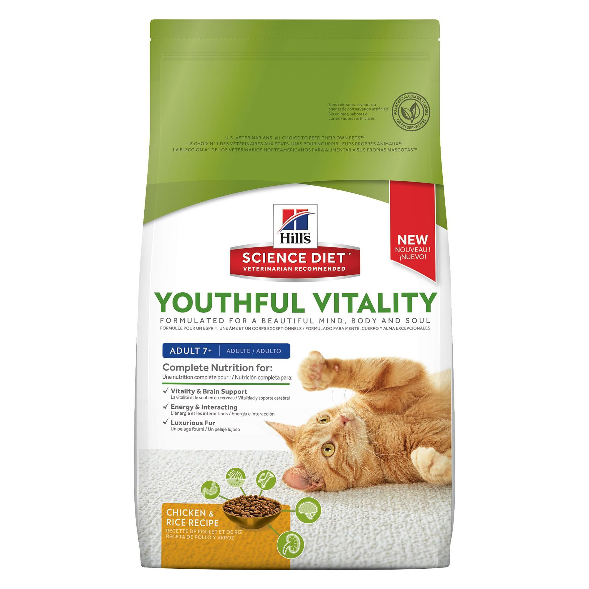 Hill's Science Diet Youthful Vitality Adult 7+ Cat Food