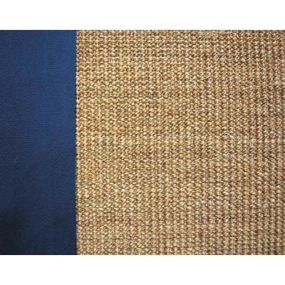 Lanart Rugs Natural Sisal 5x8 Bound Blue 38 Natsisal5x838