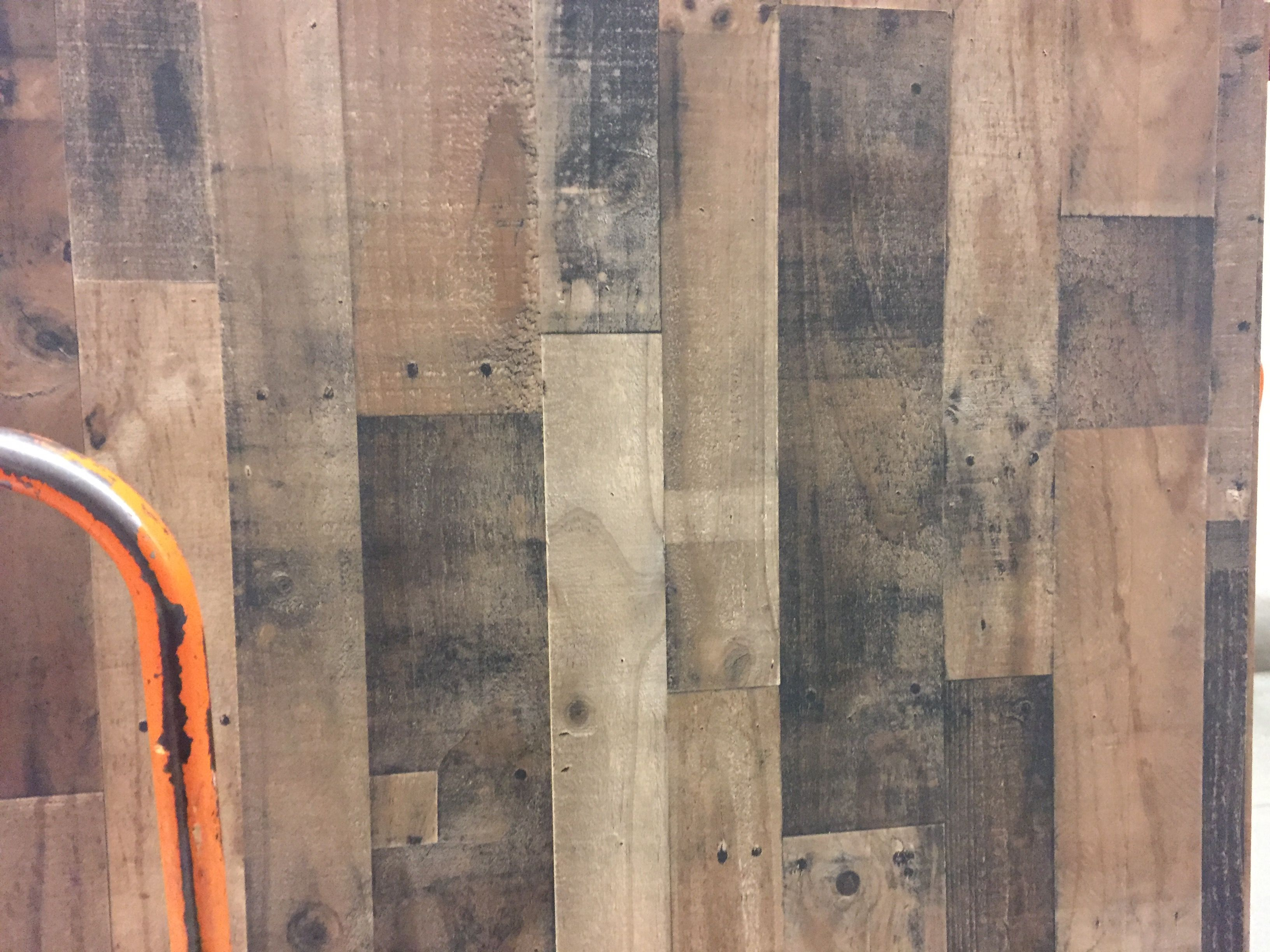 Printed 4x8 Panels From Home Depot Look Like Barn Wood You Have To Touch It To Know It S Just Paneling Shower Wall Panels Paneling Beadboard