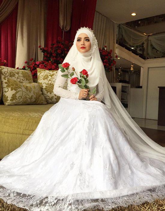 10 Gambar Mira Filzah Pelakon Cinta Si Wedding Planner Gaun Pengantin Muslim Gaun Pengantin Sederhana Gaun Pengantin Hijab