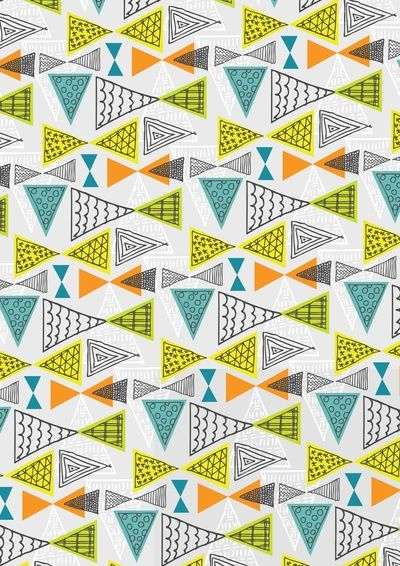 Geometric Mid Century Modern Triangles by Ryan Deighton
