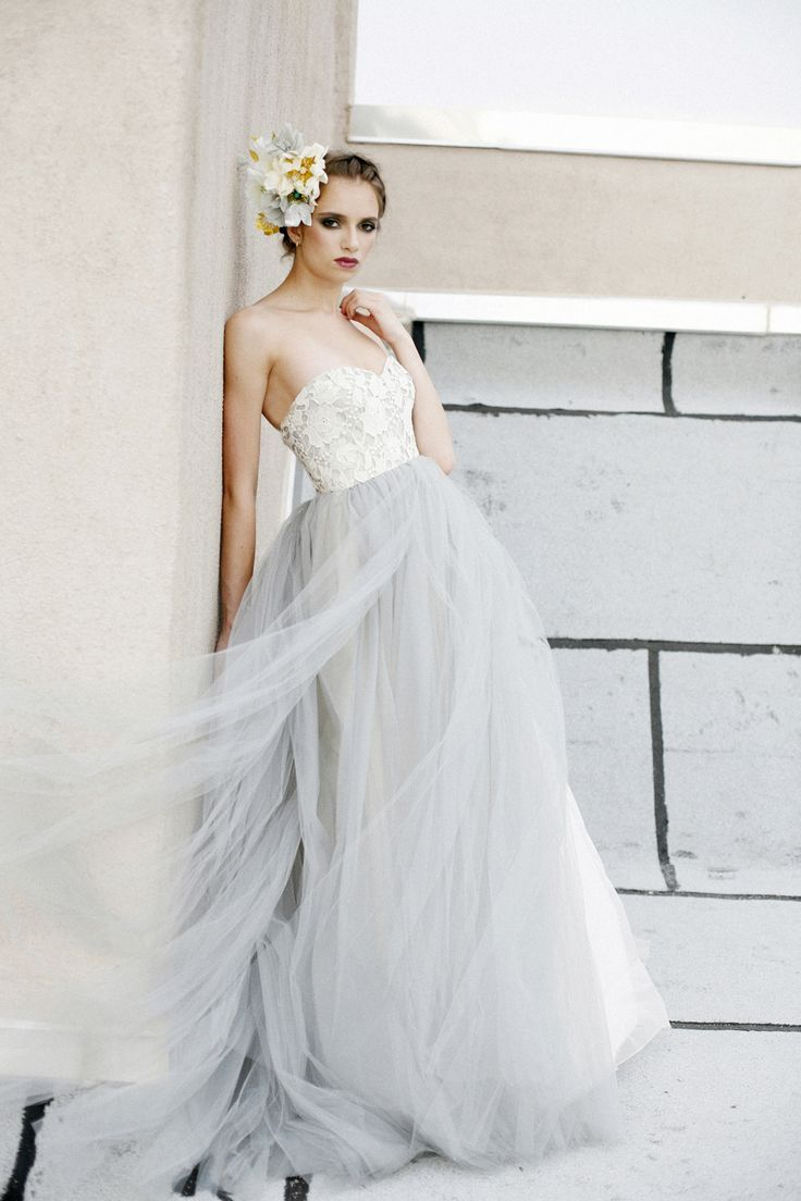 26 gorgeous ethereal colored wedding dresses | colored wedding