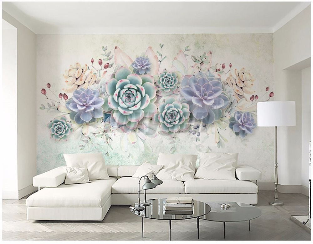 Custom Photo Art Wallpaper 3d Flower Designs Tv Background Living Room Hotel Decoration Shopping Center 3d Mural Wall Paper Purple Flowers Wallpaper Room Wall Decor Wall Murals