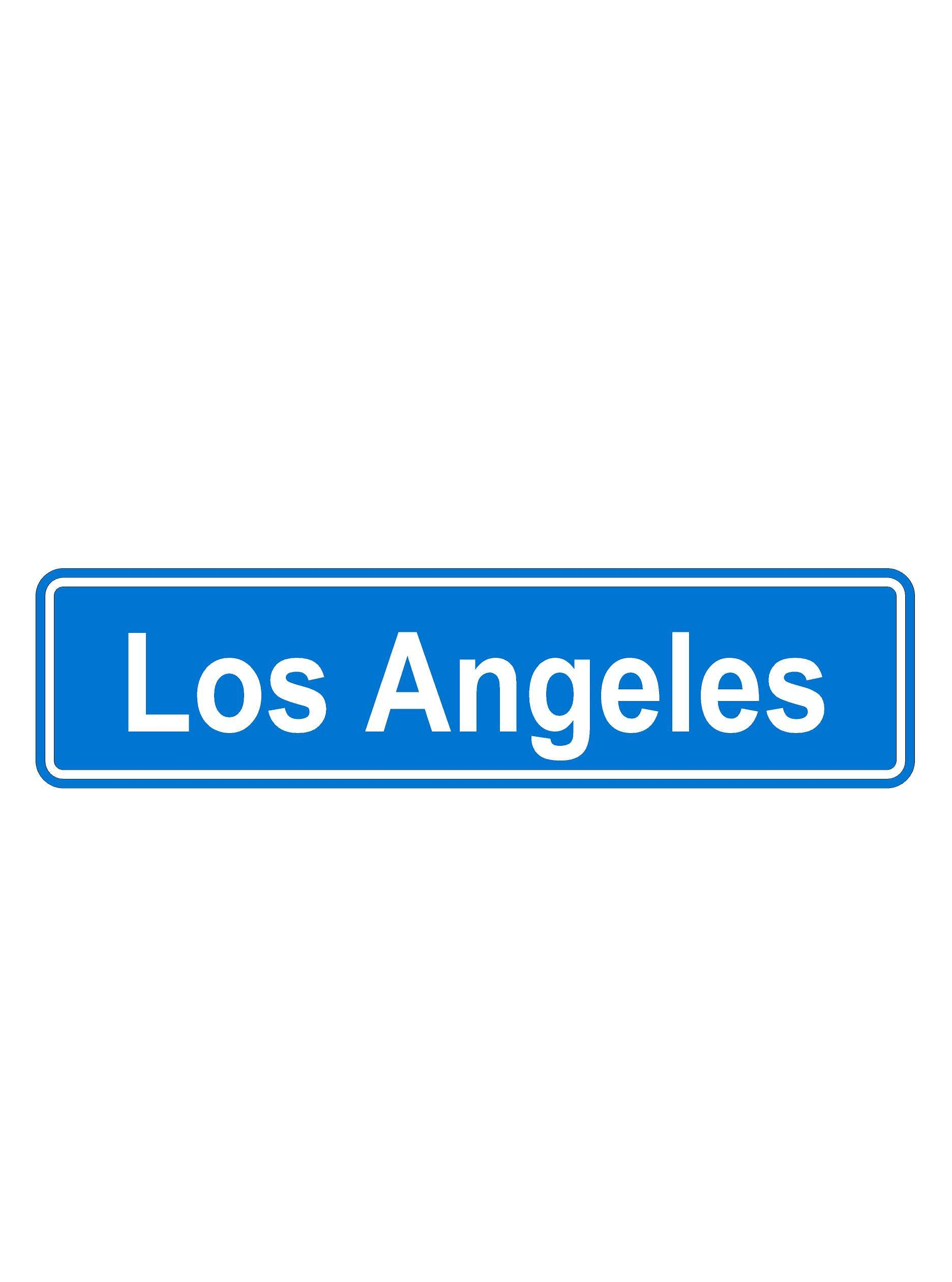 Personalized Street Signs >> Los Angeles Street Signs 6 X 24 Aluminum Los Angeles Street Sign