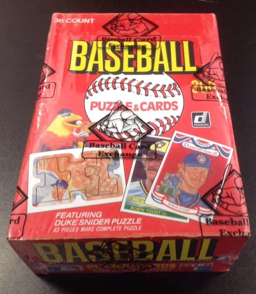 1984 donruss baseball unopened wax box bbce wrapped