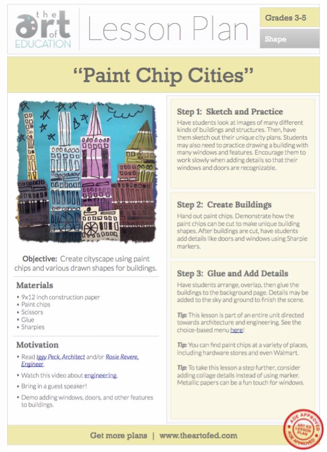 Level 3 5 Art Education Lesson Plan Art Elements Shape Color Art Skills Collage Making