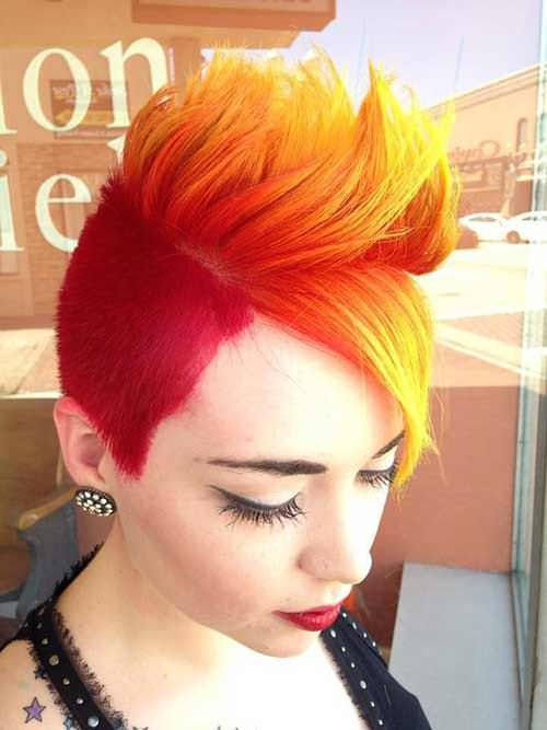 Fire Hair Colored Fire Hair Color Chic Short Hair Short Hair Color