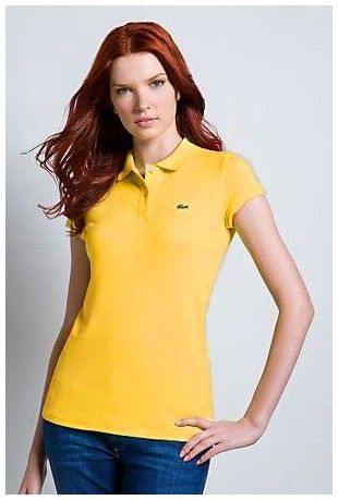 5a5790494b58d ralph lauren paris! Grossiste Polo Lacoste Femmes revers court T Shirt  jaune paris pas cher