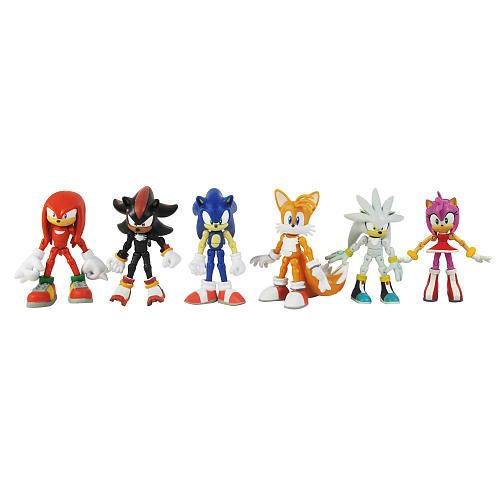 Amazon Com Sonic The Hedgehog Modern Exclusive Action Figure 6 Pack Tails Knuckles Sonic Amy Shadow Silver Toys Sonic The Hedgehog Sonic Sonic Birthday