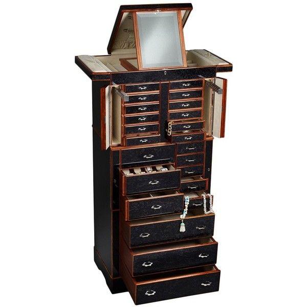Il Grande Scrigno Jewelry Armoire Ebony 355150 MXN liked on