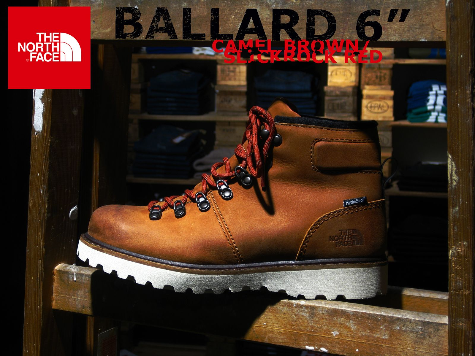 Bad Ass Display for a badass shoe: The #NorthFace Ballard 6 (Camel)