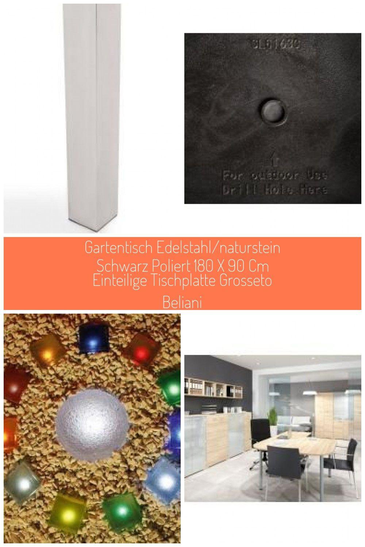 Gartentisch Edelstahl Granit Grau Poliert 180 X 90 Cm Einteilige