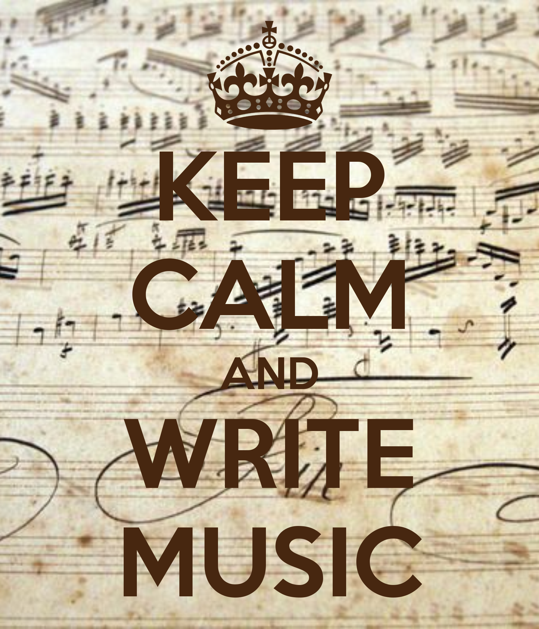 KEEP CALM AND WRITE MUSIC!! Yes!! @Nicole Novembrino Novembrino ...
