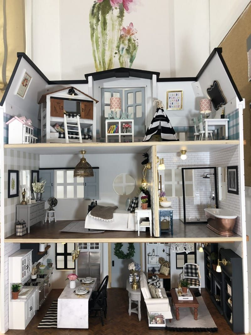 This Fixer Upper–Inspired Dollhouse Is The Best Thing You'll See All Day #dollhouses