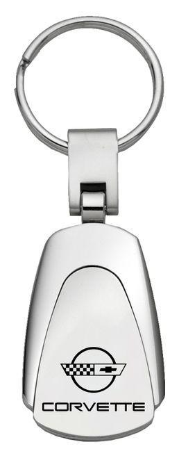 C4 Corvette Laser Engraved Teardrop Keychain