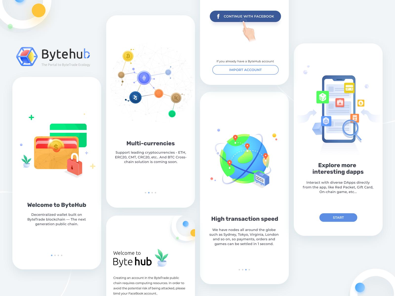 Bytehubonboarding Onboarding, Ios app design, App logo