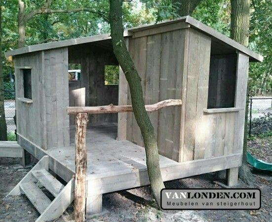 Speelhuizen op maat gemaakt van steigerhout ... www.vanlonden.com