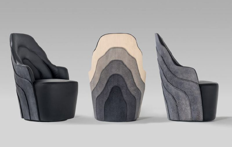 Bd Barcelona Showcases Farg Blanche S Wood Stitching Skills With Couture Cabinet Range Armchair Design New Furniture Furniture