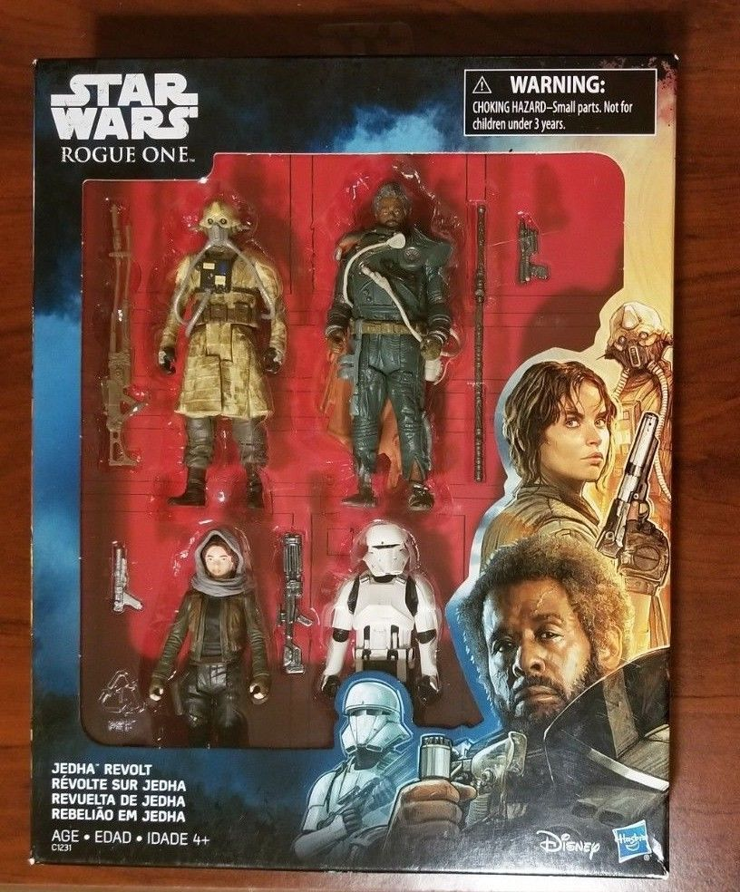 Star Wars Rogue One 4-Pack Jedha Revolt Jyn Erso Loose Complete