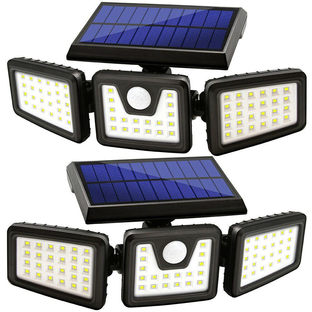 2 Pack Solar Lights Outdoor Motion Sensor Ip65 Waterproof Led Wireless Lamp Motion Sensor Lights Outdoor Sensor Lights Outdoor Solar Security Light