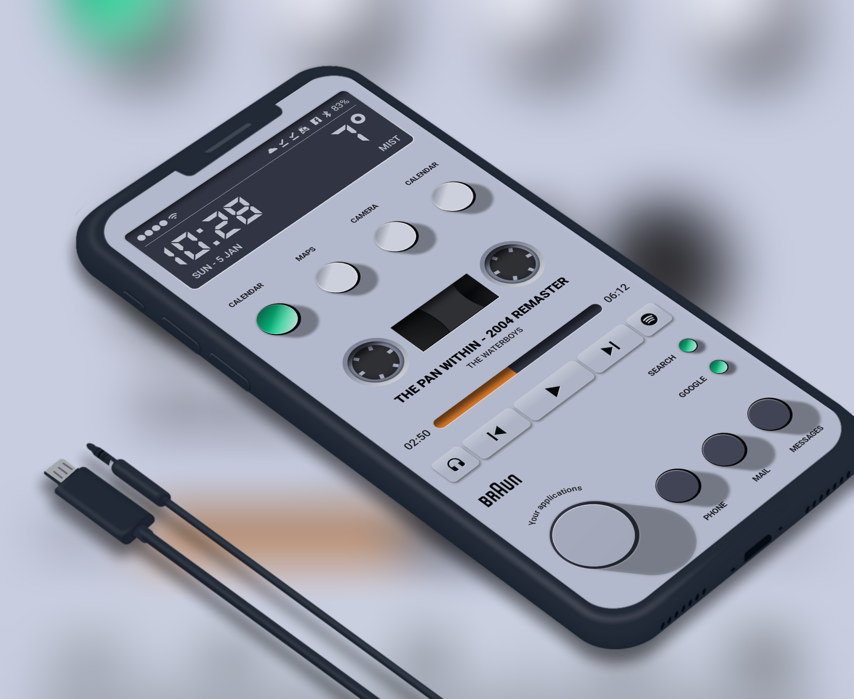 Theme for KLWP in 2020 Cassette player, Android theme