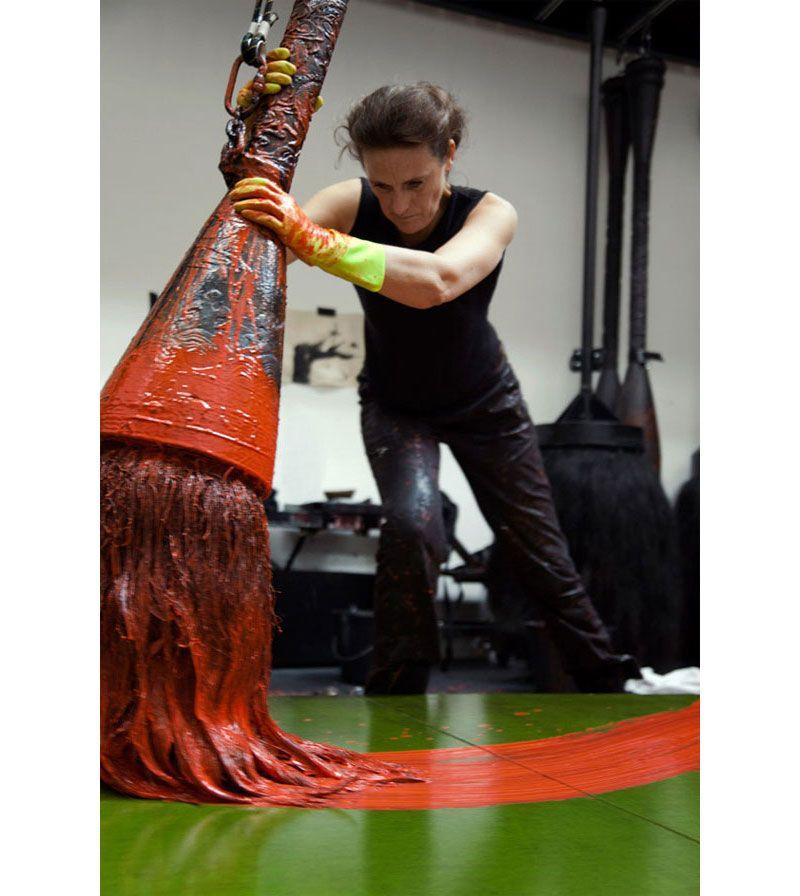Fabienne Verdier biggest paint brush ever.