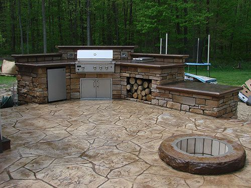 Beyond The Kit Outdoor Kitchens In Cold Climates Concrete Decor Concrete Outdoor Kitchen Outdoor Kitchen Kits Backyard Landscaping