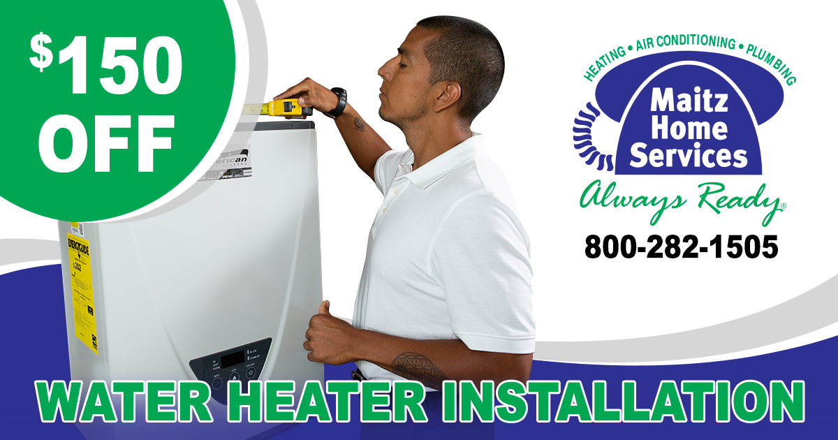 Water Heater Installation Special Water heater